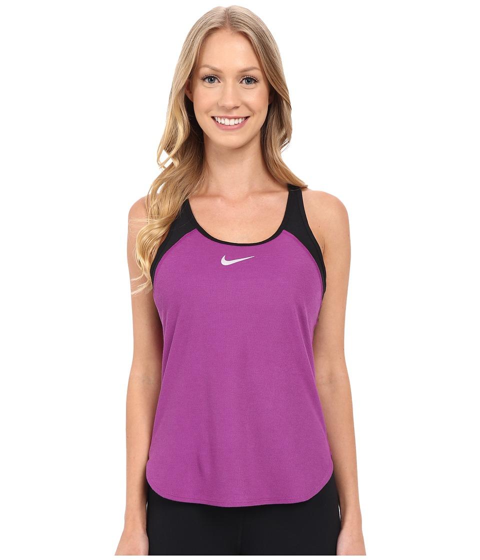 Nike Court Slam Breathe Tennis Tank Top Cosmic Purple/Black/White Womens Sleeveless