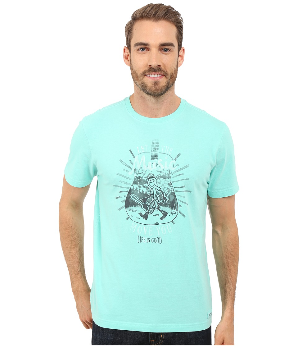 Life is good Let The Music Move You Crusher Tee Cool Aqua Mens T Shirt