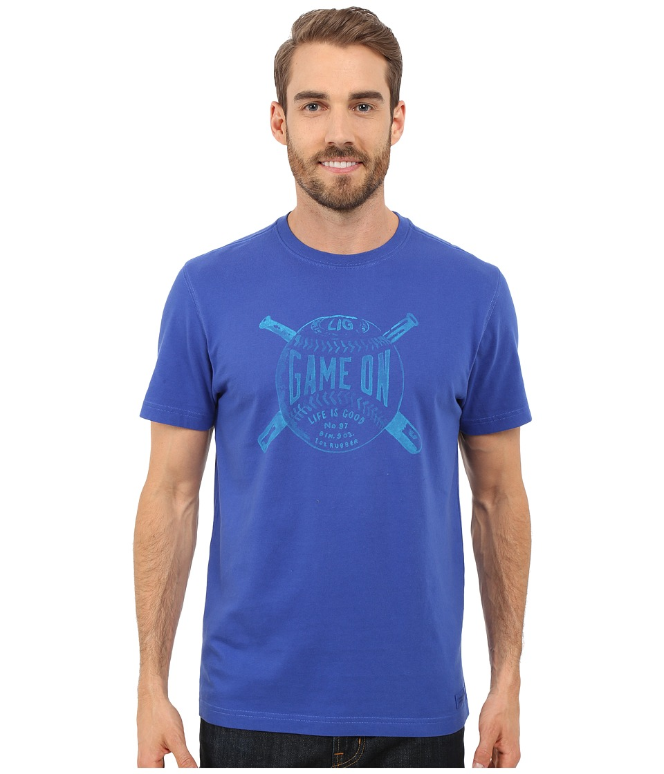 Life is good Game On Crusher Tee Cobalt Blue Mens T Shirt