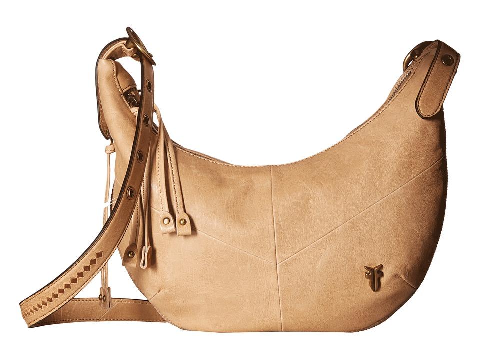 Frye - Belle Bohemian Crossbody (Beige) Cross Body Handbags