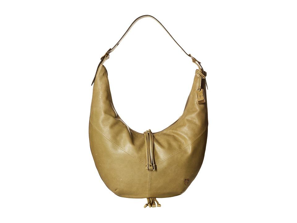 Frye Belle Bohemian Hobo Moss Hobo Handbags