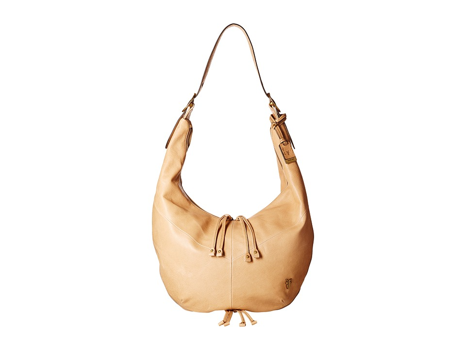 Frye Belle Bohemian Hobo Beige Hobo Handbags