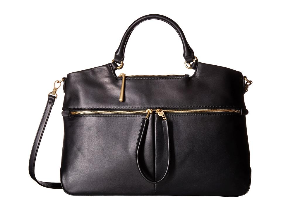 Hobo - City Light Tote (Black) Satchel Handbags