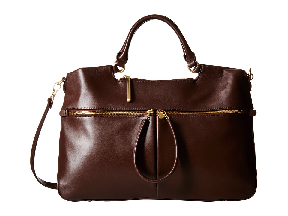Hobo - City Light Tote (Chocolate) Satchel Handbags