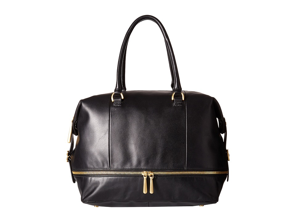 Hobo - Fast Lane Satchel (Black) Satchel Handbags