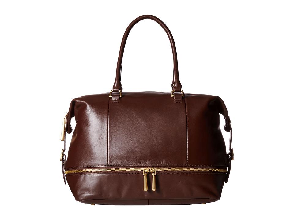 Hobo - Fast Lane Satchel (Chocolate) Satchel Handbags