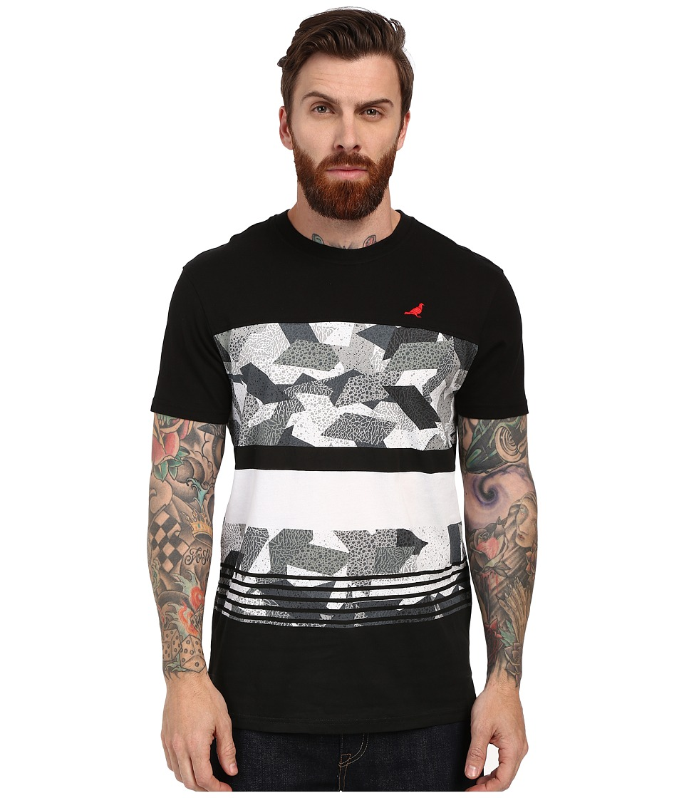 Staple Geocamo Striped Tee Heather Grey Mens T Shirt