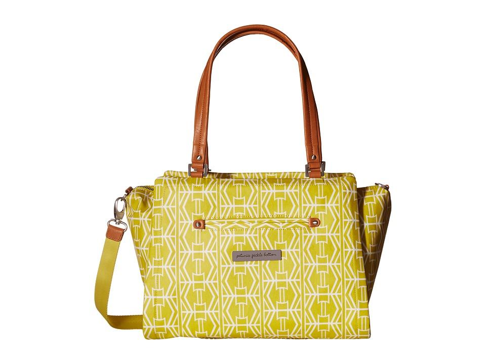 petunia pickle bottom - Glazed Statement Satchel (Electric Citrus) Satchel Handbags