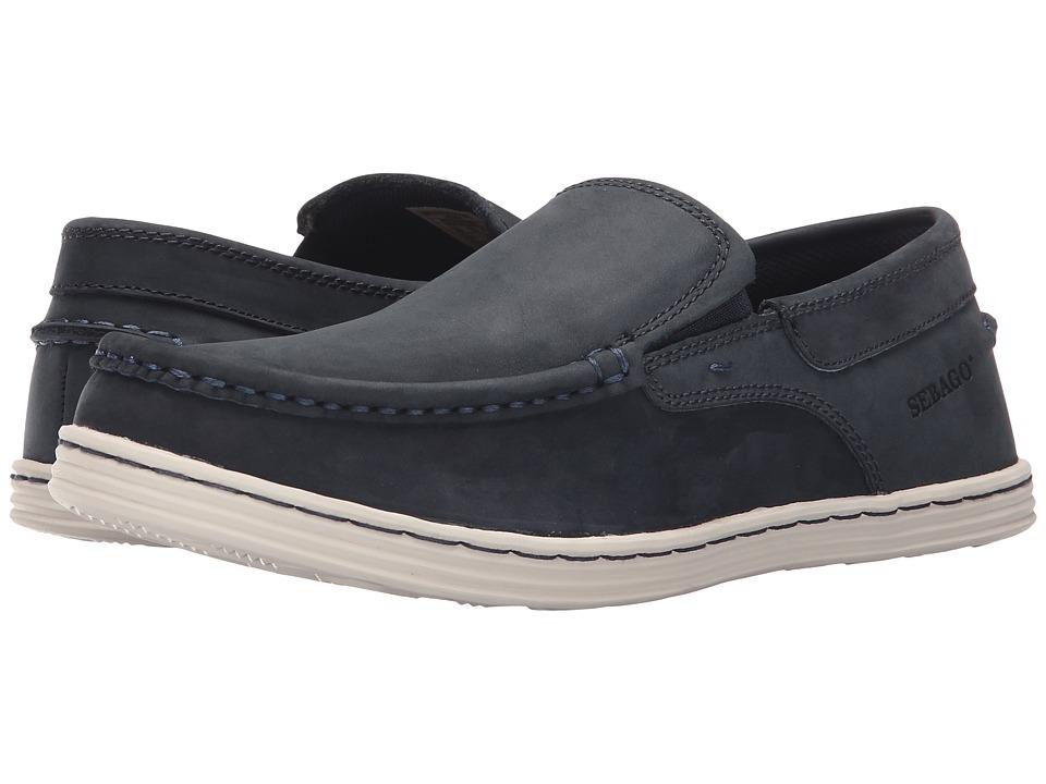 Sebago - Barnet Slip-On (Navy Waxy Leather) Men