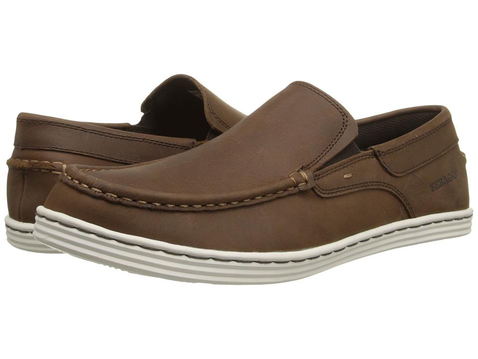 Sebago - Barnet Slip-On (Dark Brown Waxy Leather) Men