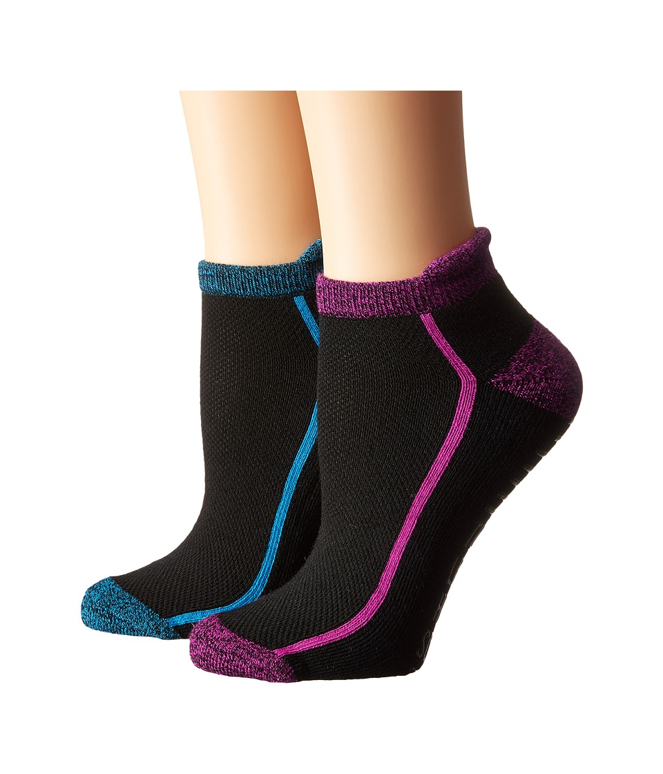 Steve Madden - 2-Pack Yoga Barre Socks with Gripper Sayings (Black/Black) Women
