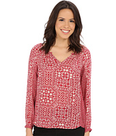 Velvet by Graham & Spencer - Tiamaria03 Casablanca Mixed Print Blouse
