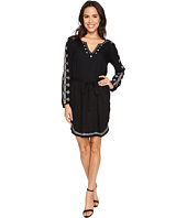 Velvet by Graham & Spencer - Belton03 Tibetan Embroidered Long Sleeve Dress