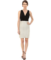 Laundry by Shelli Segal - V-Neck Peek A Boo Back Cocktail Dress with Matte Jersey Top