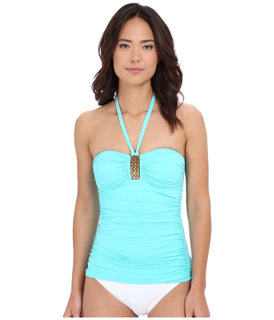 Bleu Rod Beattie Gilt Trip Bandeaukini Top Pool Womens Swimwear