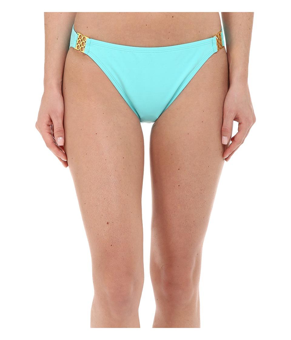 Bleu Rod Beattie Gilt Trip Hipster w/ Gold Trim Bottom Pool Womens Swimwear