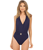 Bleu Rod Beattie - Gilt Trip Plunging Halter MIO One-Piece
