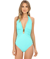 Bleu Rod Beattie - Gilt Trip Shirred Halter MIO One-Piece