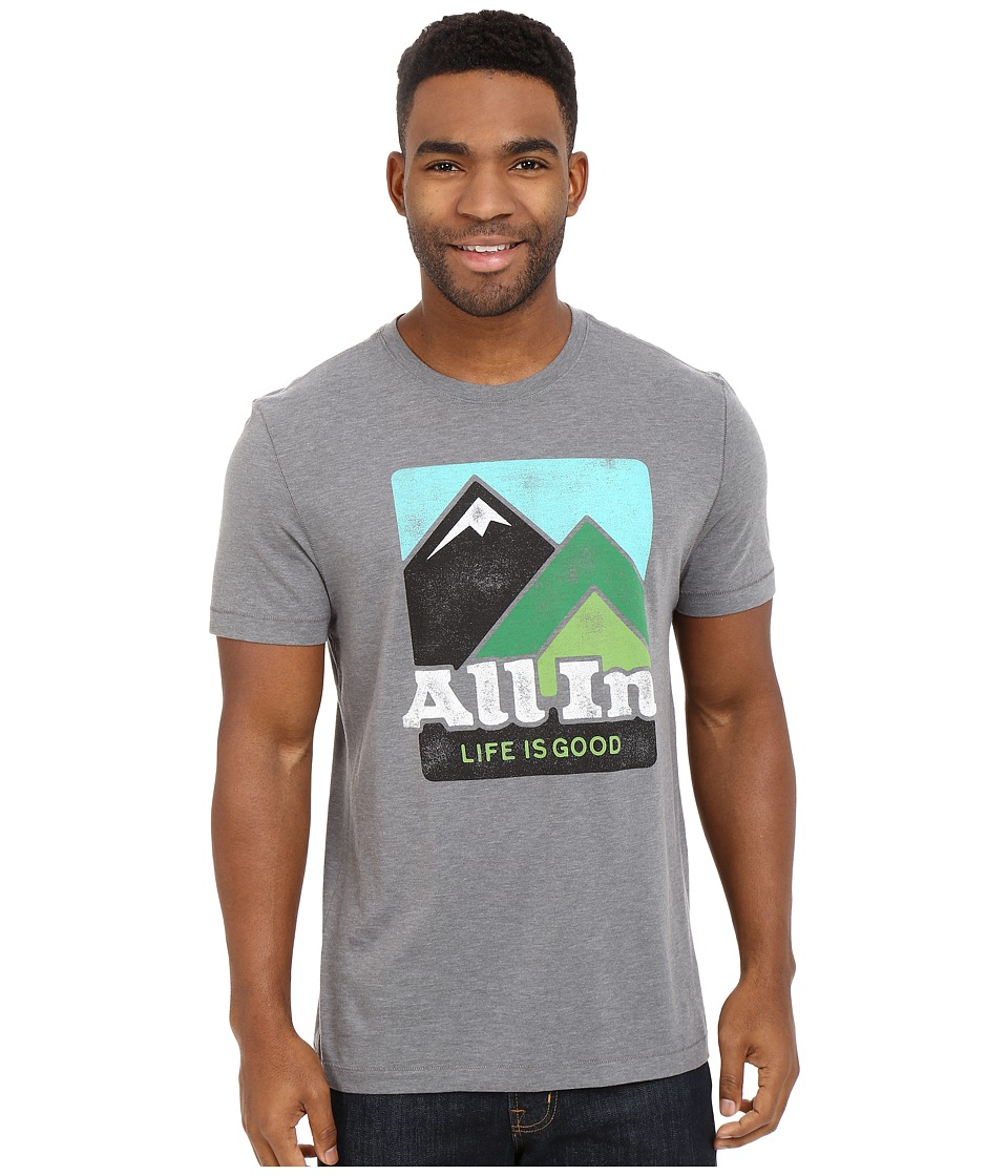Life is good - Life Is Good All In Mountains Cool Tee (Slate Gray) Men