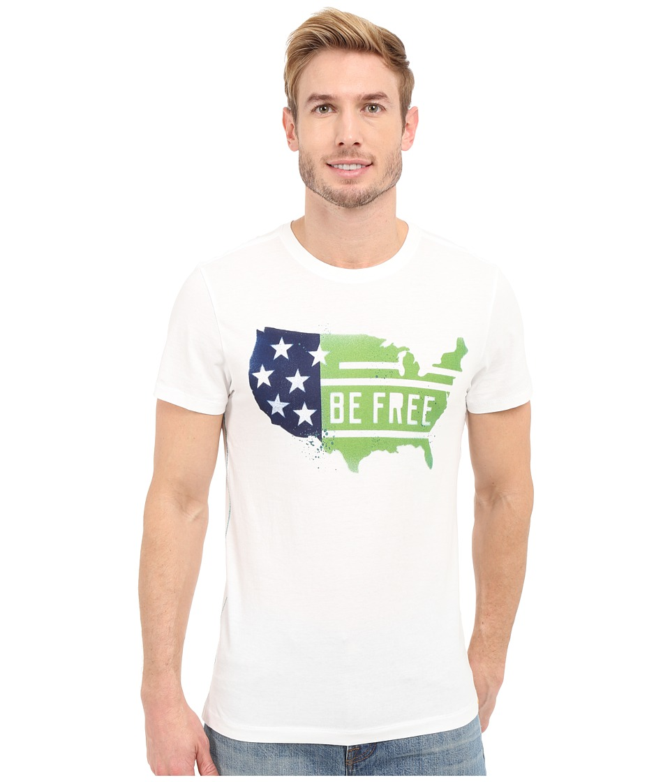 Life is good - Be Free USA Country Newbury Tee (Cloud White) Men