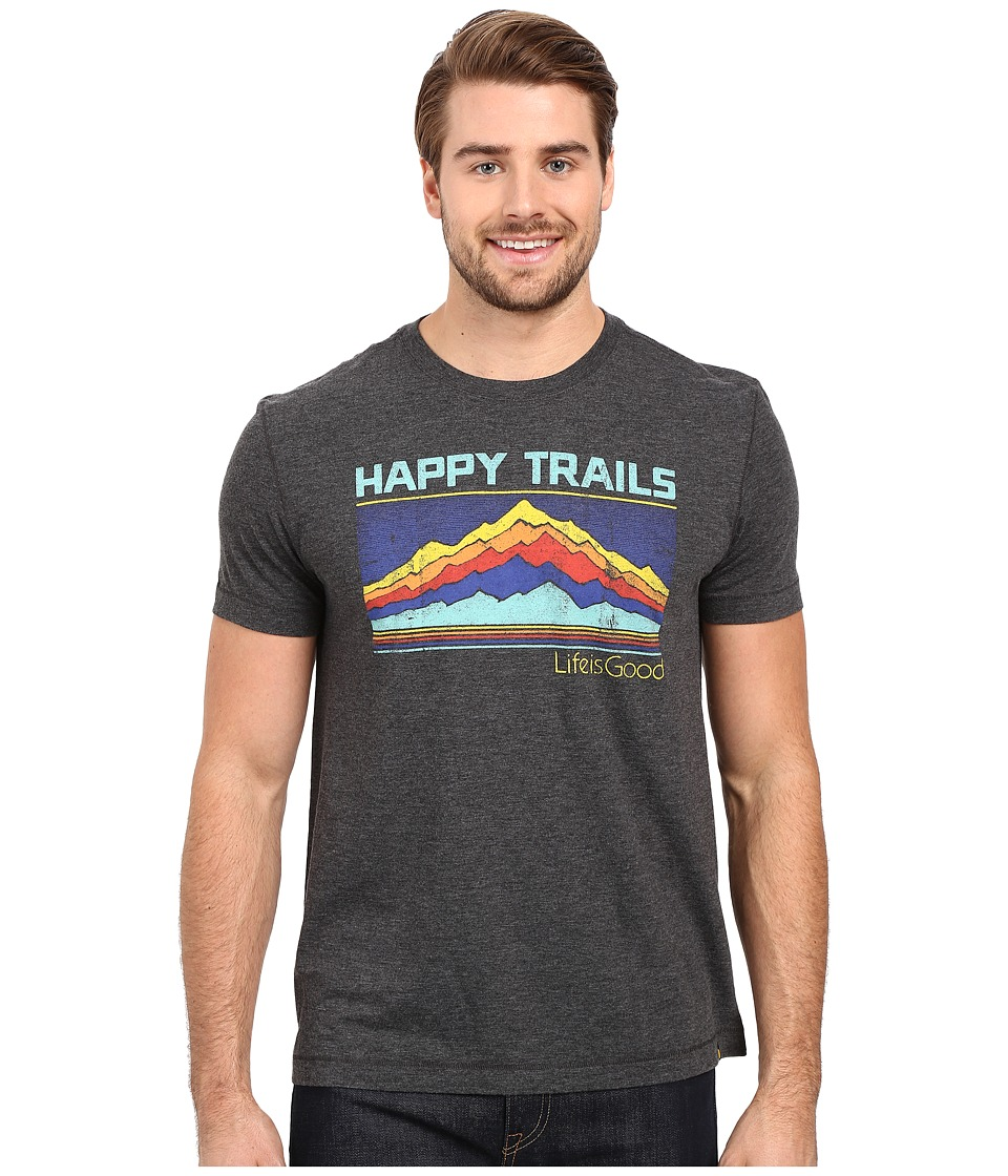 Life is good - Life Is Good Happy Trails Stripe Mountain Cool Tee (Night Black) Men