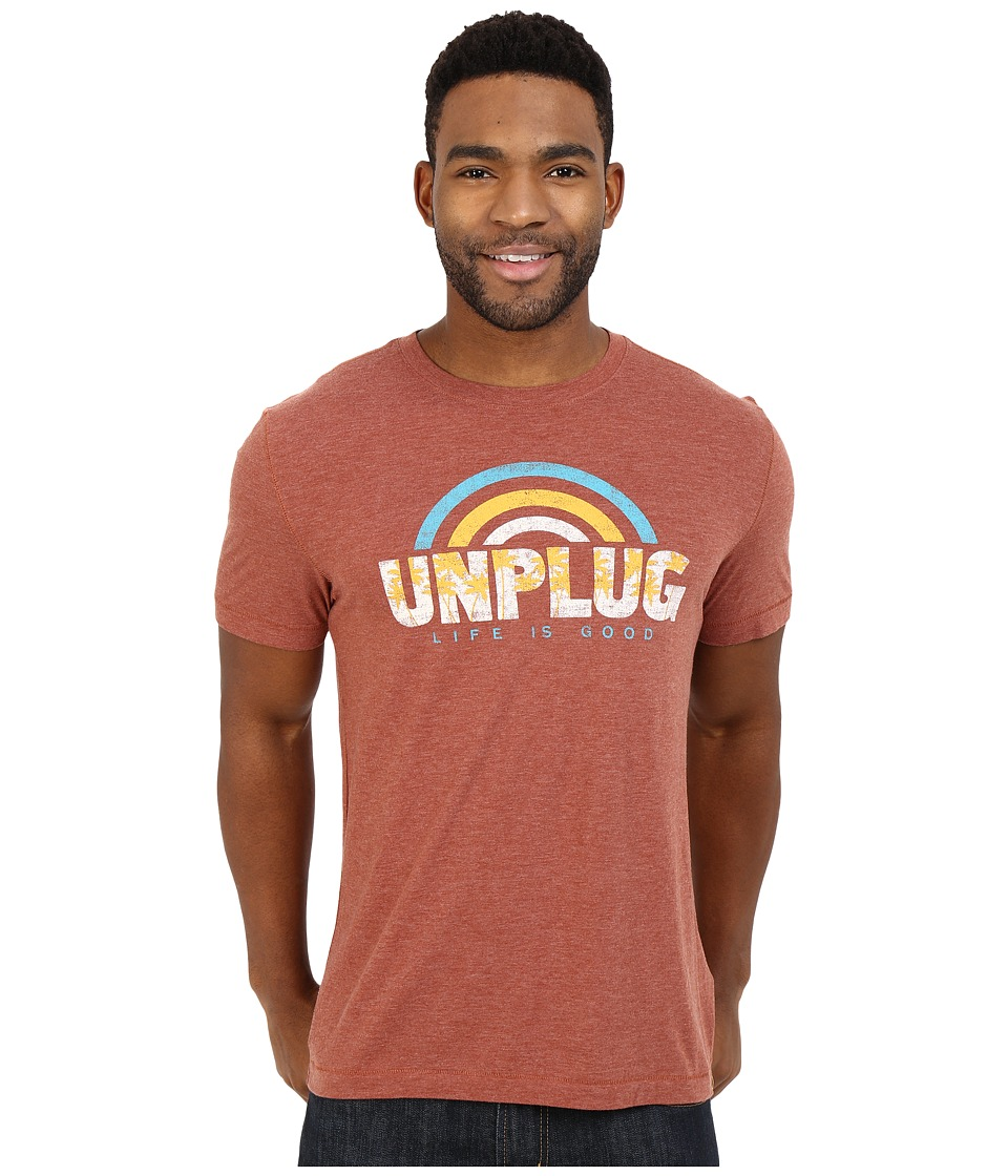 Life is good - Unplug Rainbow Cool Tee (Rusty Copper) Men