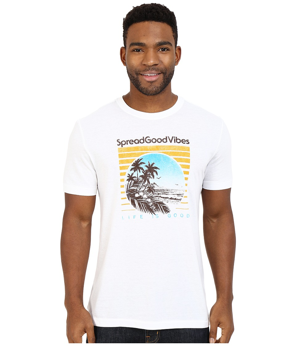 Life is good - Good Vibes Beach Scene Cool Tee (Cloud White) Men