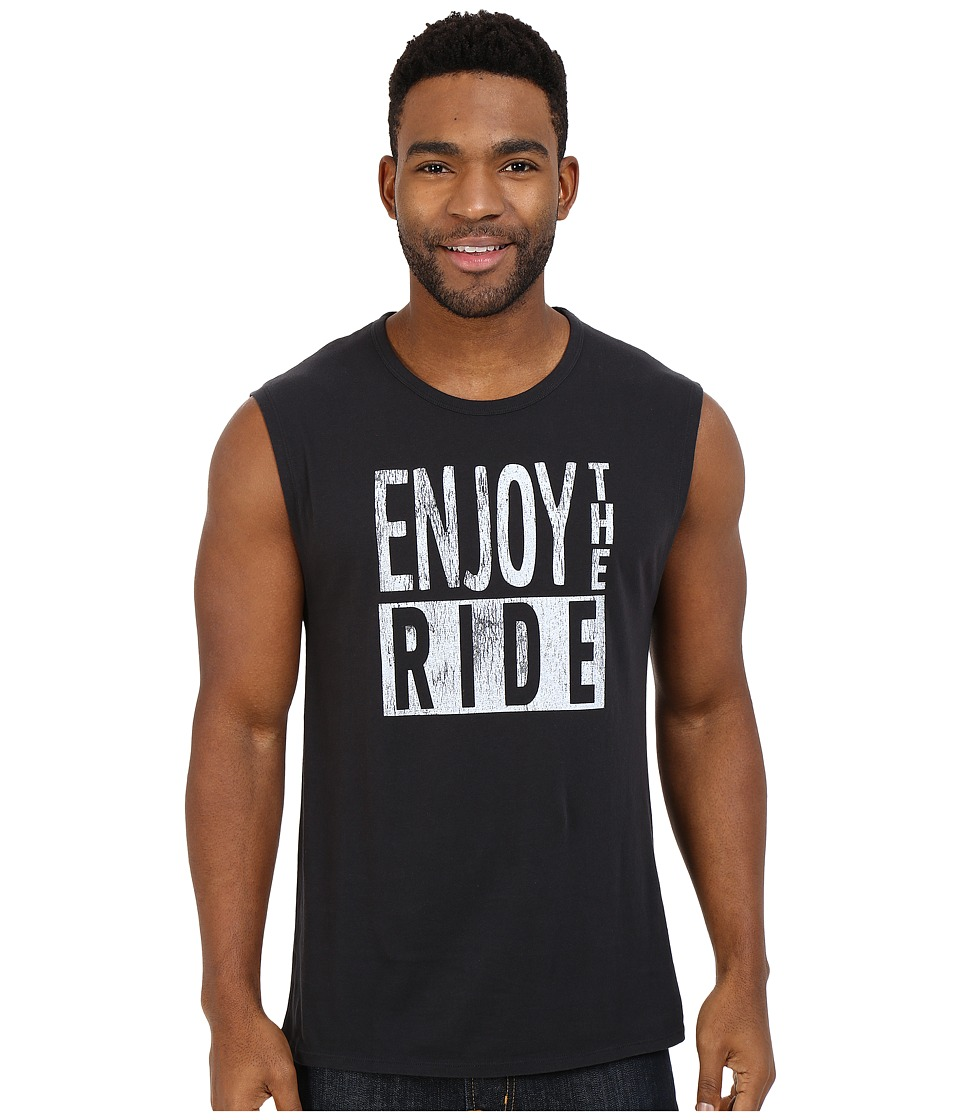 Life is good Enjoy The Ride Muscle Tee Night Black Mens Sleeveless