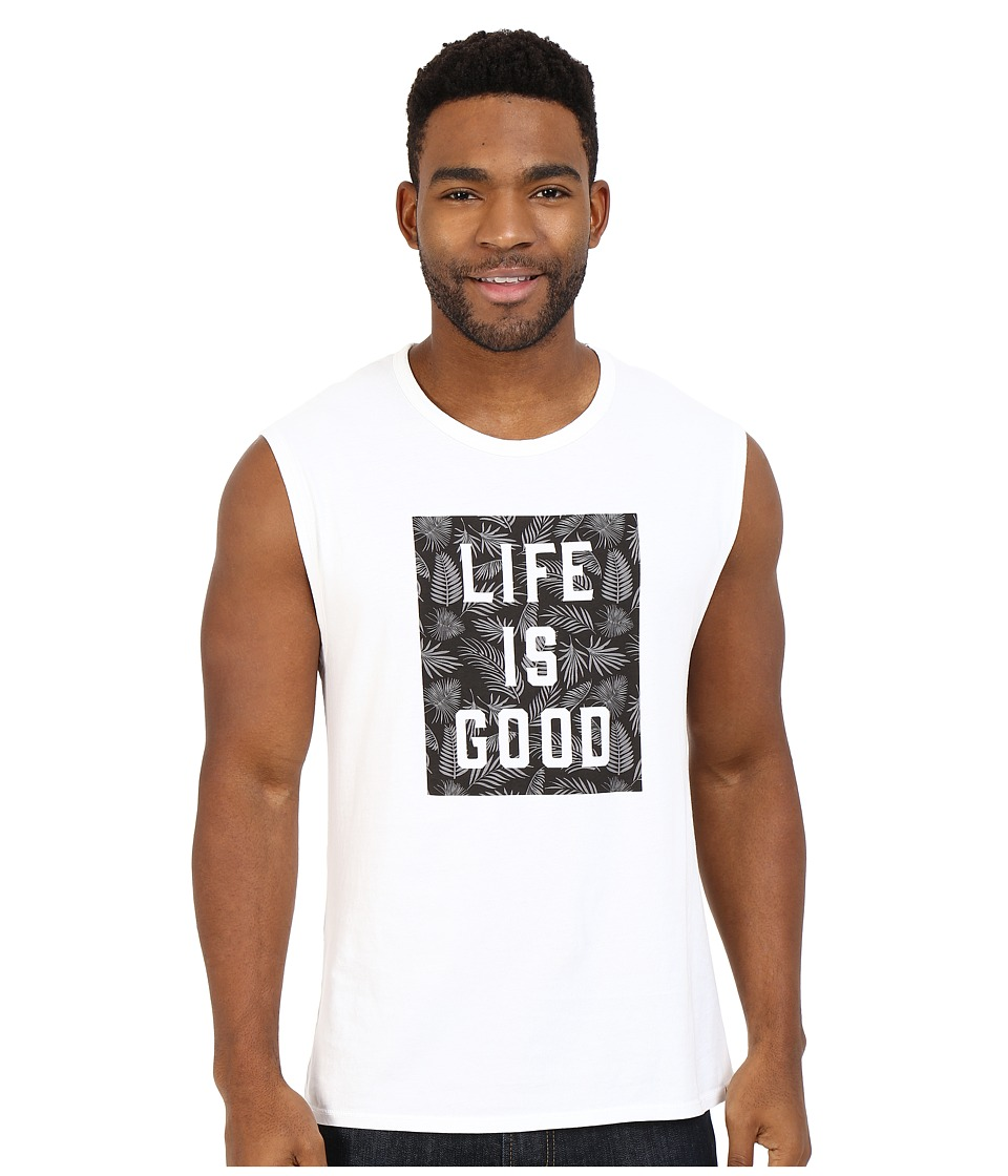 Life is good Life is Good Block Muscle Tee Cloud White Mens Sleeveless