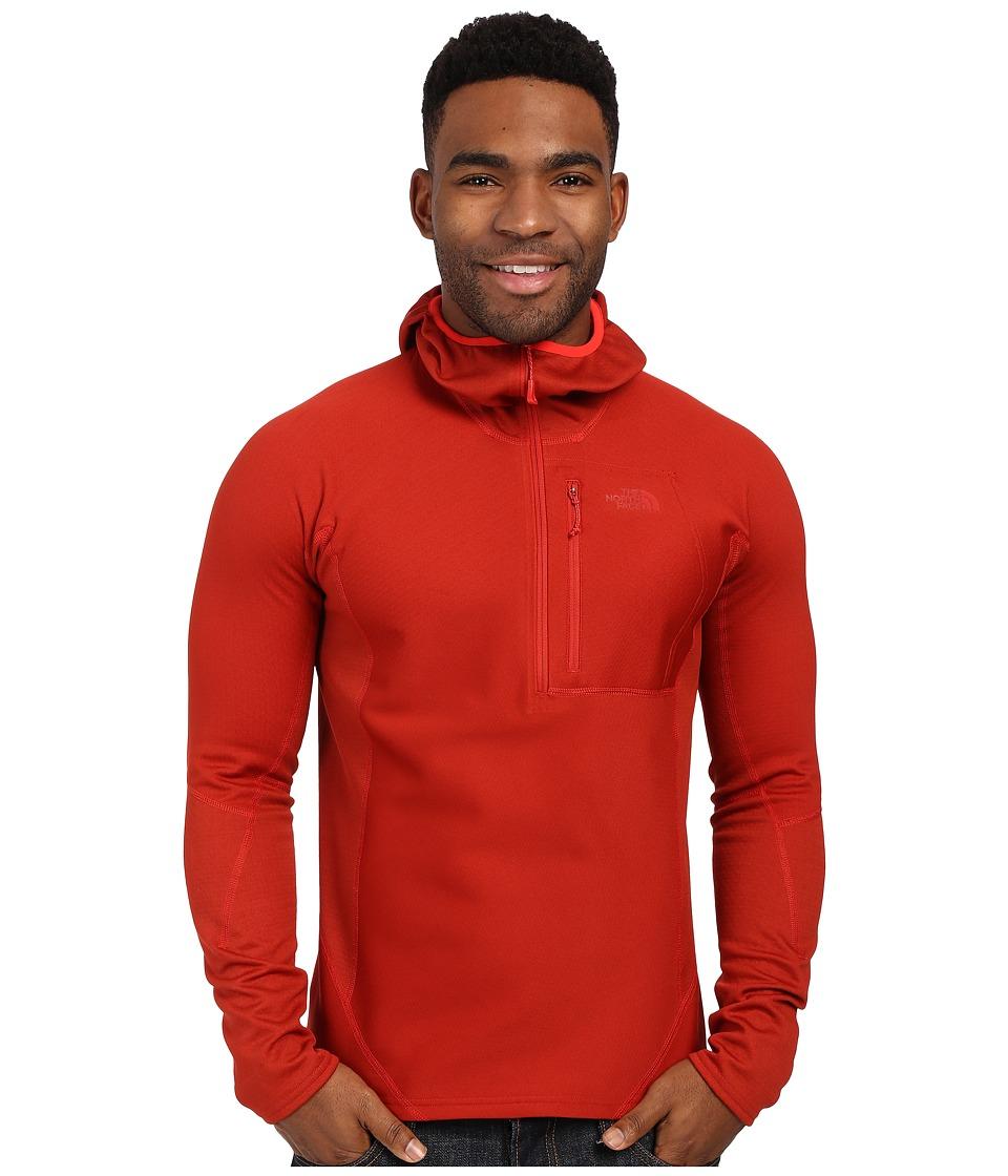The North Face FuseForm Dolomiti 1/4 Zip Hoodie Pompeian Red Fuse Mens Sweatshirt