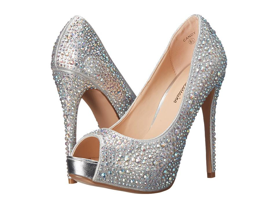 Lauren Lorraine Candy Silver Candy High Heels