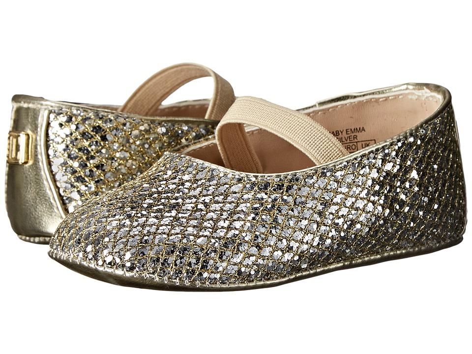 Ivanka Trump Kids Baby Emma Ballerina Infant/Toddler Silver Girls Shoes