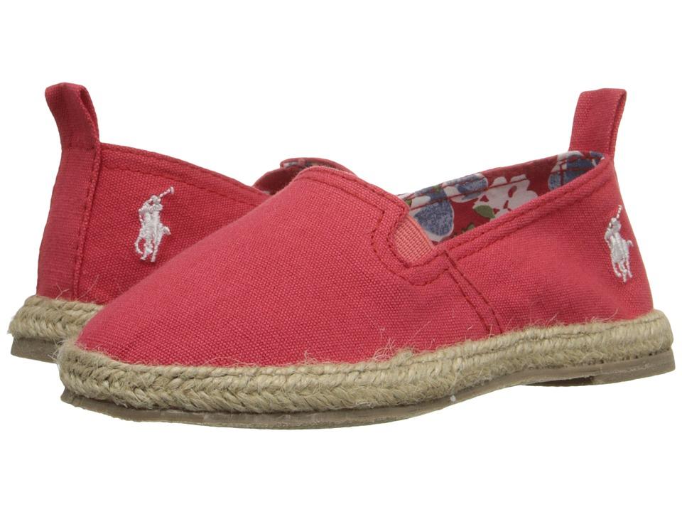 Polo Ralph Lauren Kids Beakon Toddler Red Canvas Girls Shoes