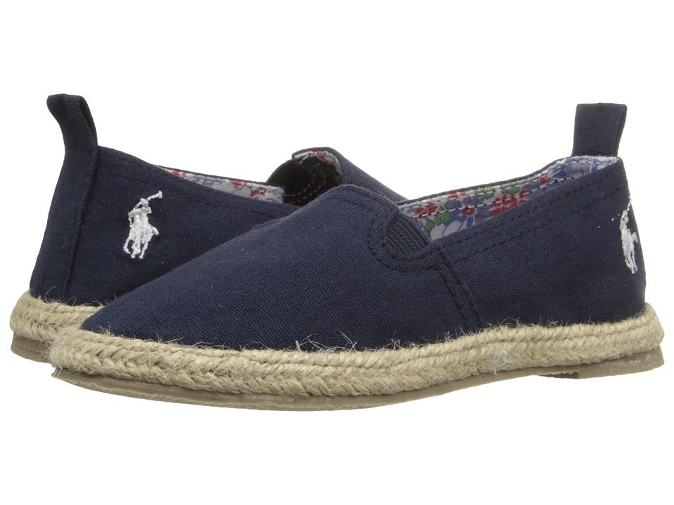 Polo Ralph Lauren Kids Beakon Toddler Navy Canvas Girls Shoes