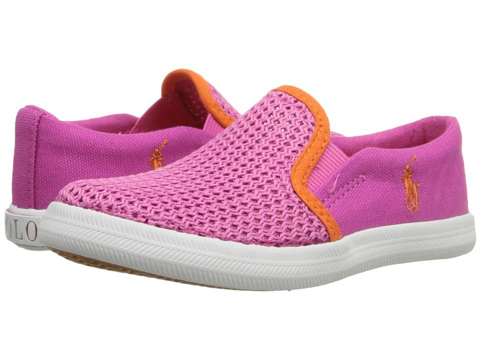 Polo Ralph Lauren Kids Benton Toddler Regatta Pink Canvas/Mesh/Orange Girls Shoes