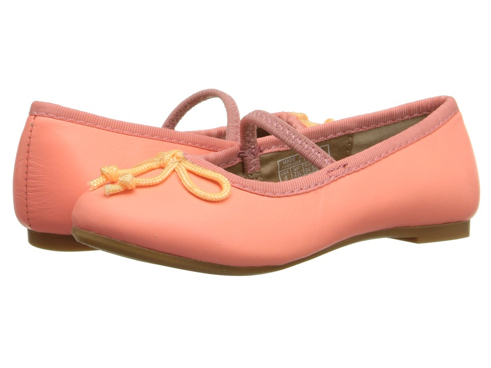 Polo Ralph Lauren Kids Nellie Toddler Neon Melon Leather Girls Shoes