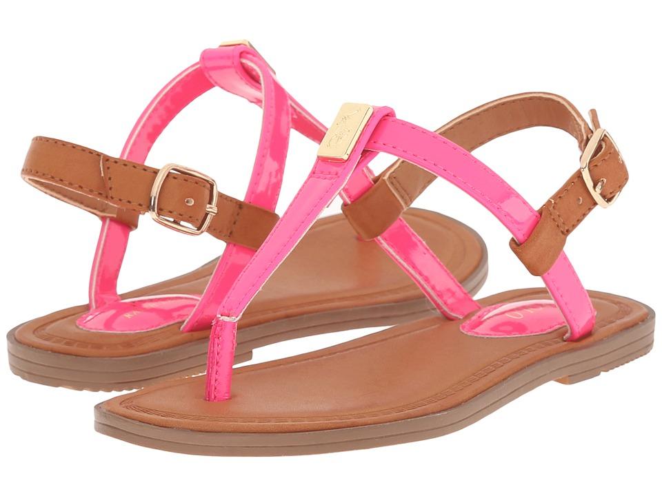 Polo Ralph Lauren Kids Gala Toddler/Little Kid Pink Patent/Gold Girls Shoes