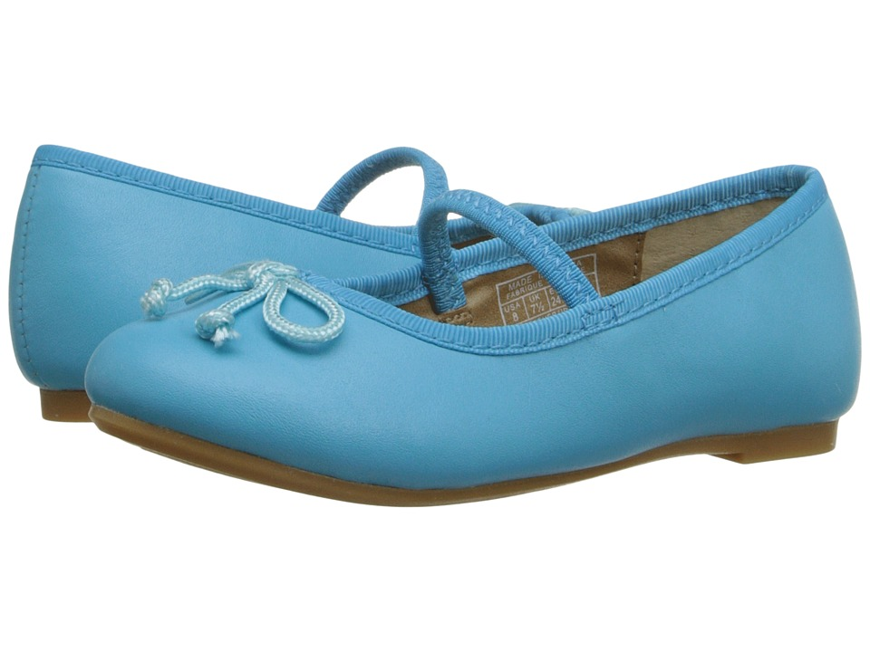 Polo Ralph Lauren Kids Nellie Toddler Turquoise Leather Girls Shoes