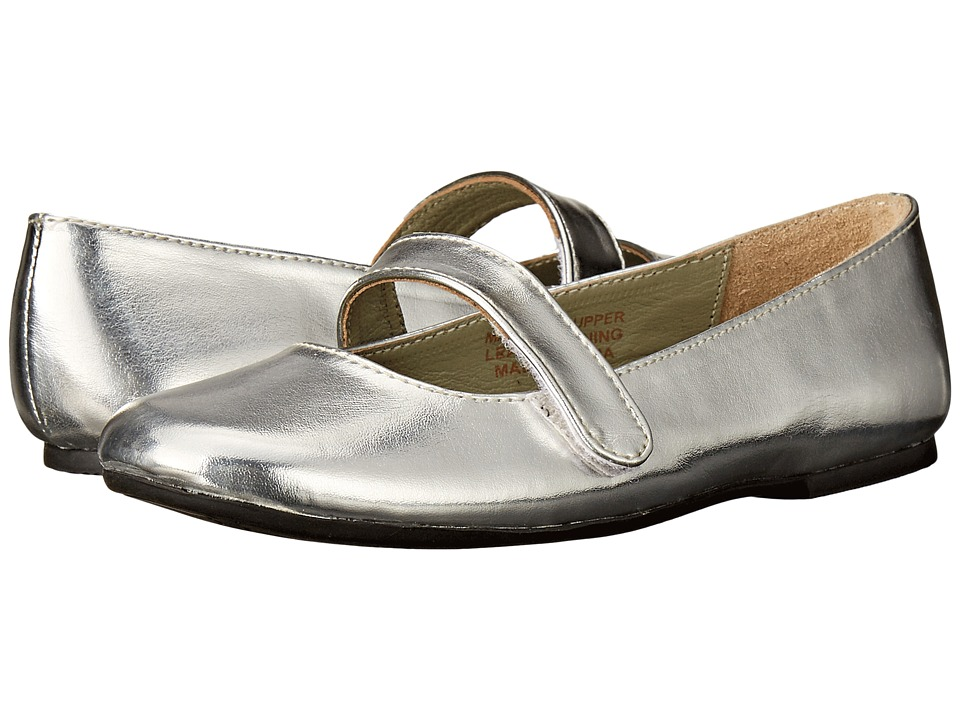 Pazitos Comet BF PU Little Kid/Big Kid Silver Girls Shoes
