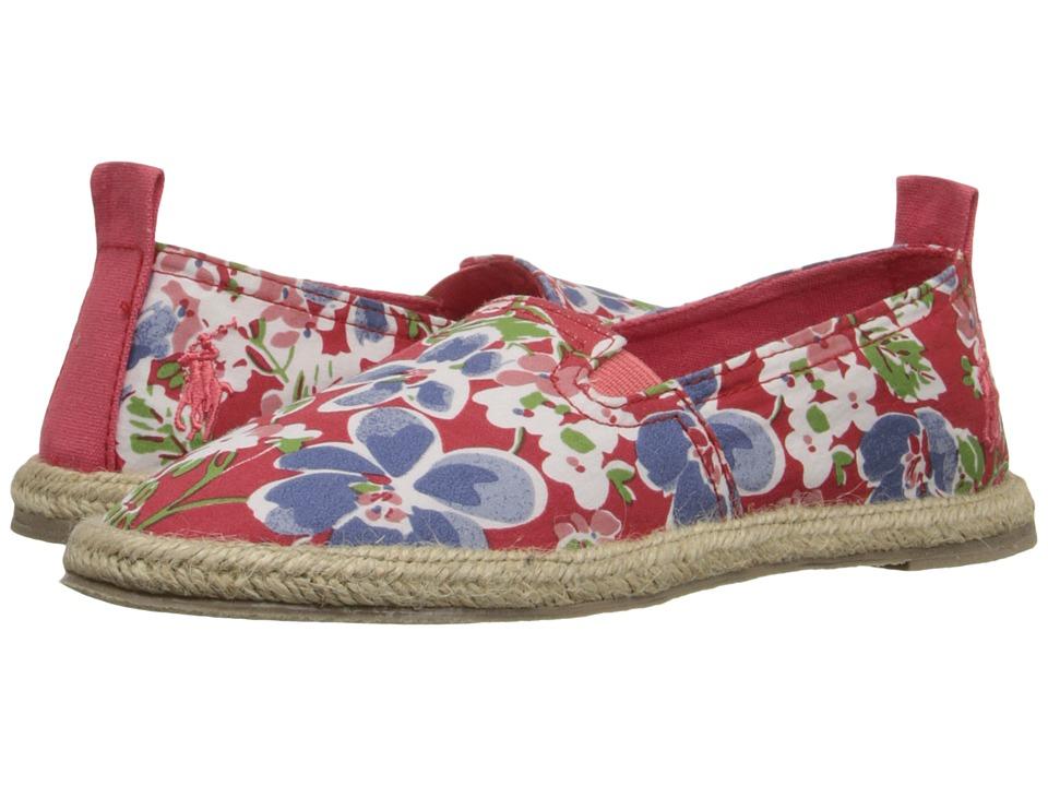 Polo Ralph Lauren Kids Beakon Little Kid Coral Mini Floral Girls Shoes