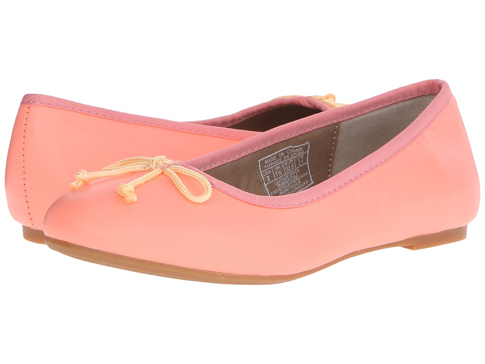 Polo Ralph Lauren Kids Nellie Little Kid Neon Melon Leather Girls Shoes