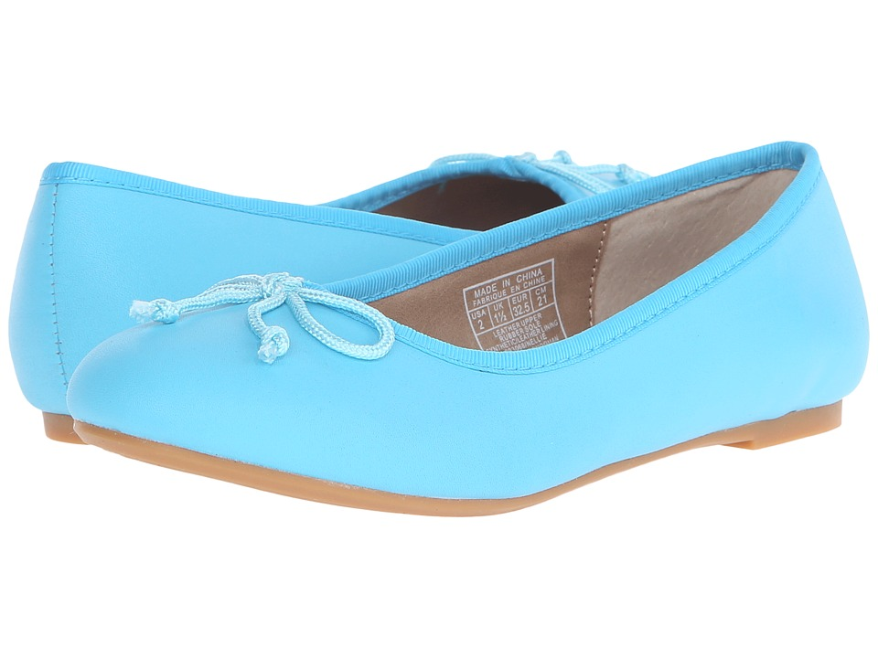 Polo Ralph Lauren Kids Nellie Little Kid Turquoise Leather Girls Shoes