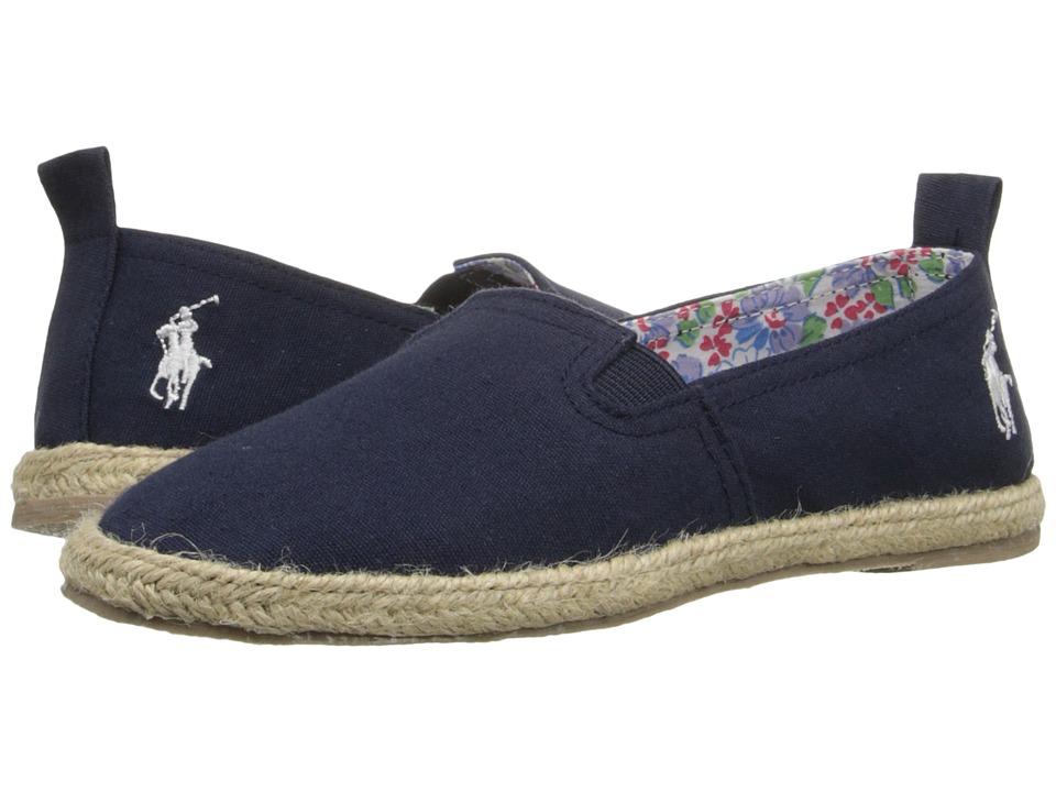 Polo Ralph Lauren Kids Beakon Little Kid Navy Canvas Girls Shoes