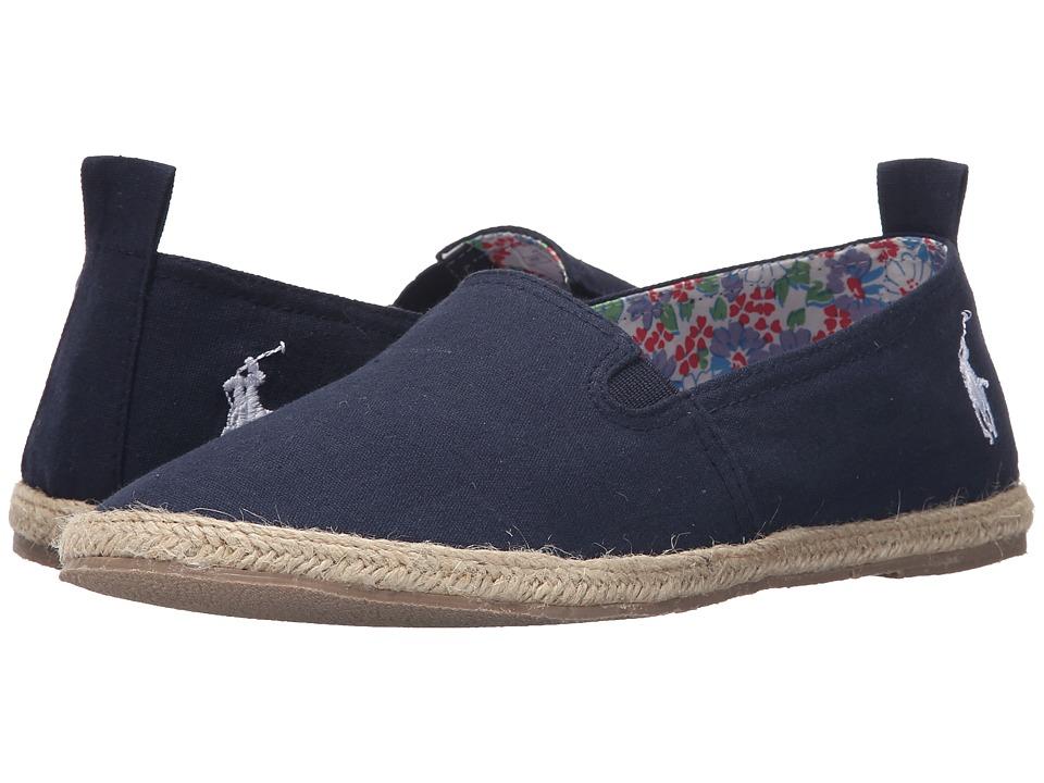 Polo Ralph Lauren Kids Beakon Big Kid Navy Canvas Girls Shoes