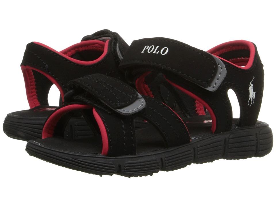 Polo Ralph Lauren Kids Brody Big Kid Black Sportbuck Boys Shoes