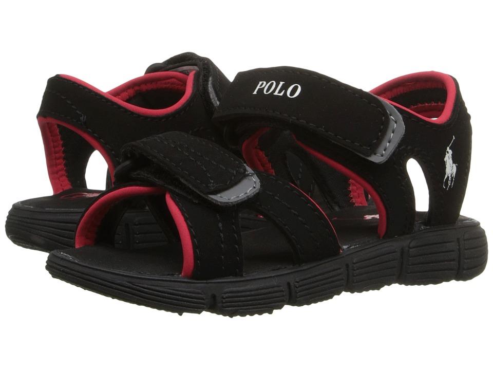 Polo Ralph Lauren Kids Brody Toddler Black Sportbuck Boys Shoes