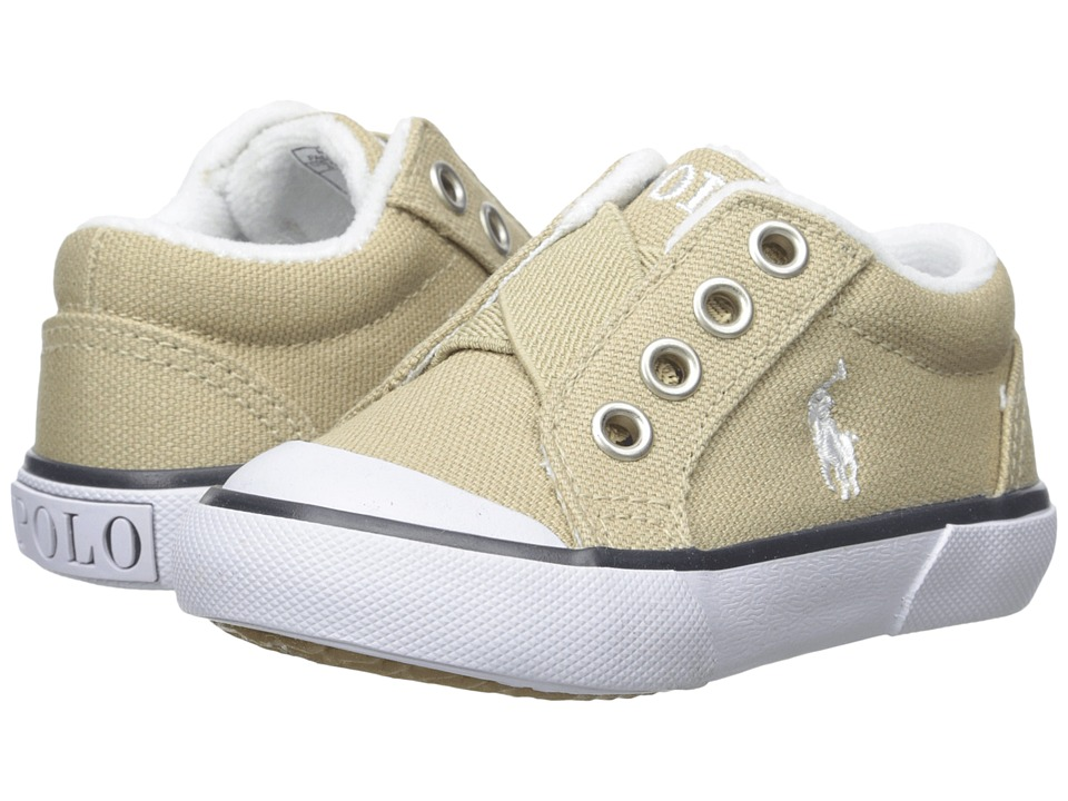 Polo Ralph Lauren Kids - Greggner (Toddler) (Khaki Canvas) Boys Shoes
