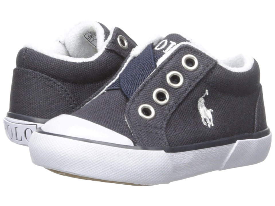Polo Ralph Lauren Kids Greggner (Toddler) (Navy Canvas) Boys Shoes