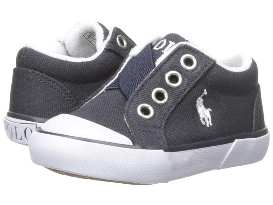 Polo Ralph Lauren Kids - Greggner (Toddler) (Navy Canvas) Boys Shoes
