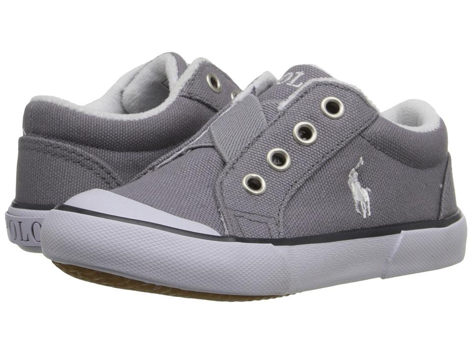 Polo Ralph Lauren Kids - Greggner (Toddler) (Grey Canvas) Boys Shoes